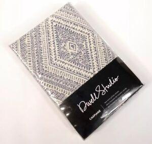 Dwell Studio Caspiane Euro Pillow Shams Cover Set Of 2 Blue Gray White Modern