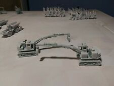 ONE each.3D Printed N Scale 1:160 Tracked Logging Loader Primed white
