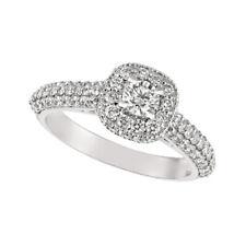 1.20 Carat Natural Diamond Engagement Ring G SI 14K White Gold