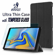 August® Ultra Thin Case & Tempered Glass for Samsung Galaxy Tab A 10.5 T590/T595