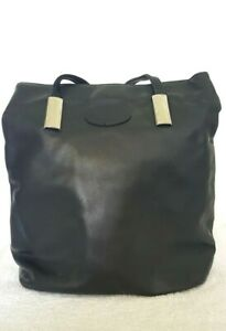 EM Ladies Designer Medium Black Convertible Backpack Shoulder Bag EUC