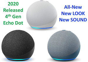 2020 Amazon Echo Dot 4th Generation With w/ Alexa Voice Media Device- ALL COLORS