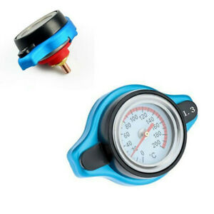 1.3 Bar Small Head Thermostatic Radiator Cap Cover Temperature Gauge Fit For Car