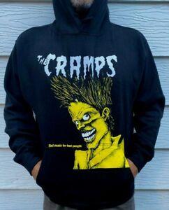 THE CRAMPS HOODIES PUNK ROCK BLACK MEN's SIZES