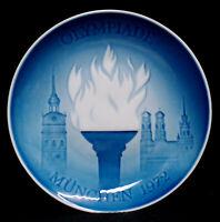 B&G BING & GRONDAHL 1972 MUNCHEN (MUNICH) OLYMPIADE DENMARK FIRST ISSUE PLATE