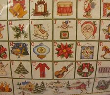 The ABC's of Christmas Counted Cross Stitch 16x20 Kit NEW Needle Treasures 02944