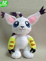 """Tailmon/Gatomon 12""""/30cm Digimon Stofftier Plüschfigur Weiche Spielzeug Puppe"""