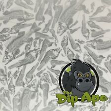 SILVER/CLEAR FISH BONES HYDROGRAPHIC WATER TRANSFER HYDRO FILM DIP APE