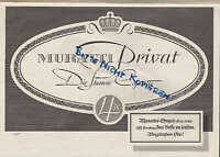 BERLIN, Werbung 1938, MURATTI-Zigaretten AG Tabak Zigarette Die Stammzigarette