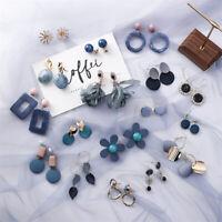 Women Fashion Earrings Retro Resin Geometric Acrylic Dangle Drop Stud Earrings