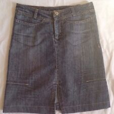 Marithe Francois Girbaud Blue Jean Skirt 26 Denim Factory Distressed
