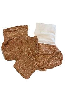 Ralph Lauren San Luca Scroll Bedding Set - Skirt Sheet Set 2 Pillowcase KING EUC