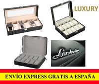 Caja para guardar Relojes de Lujo Estuche Organizador Joyero Expositor Cuero