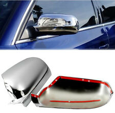 FIT FOR 99-04 VW PASSAT B5 DOOR SIDE WING MIRROR CHROME COVER REAR VIEW CAP 2000