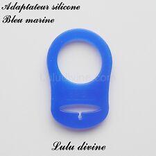 Adaptateur en silicone pour tétine et création attache tétine : Bleu marine