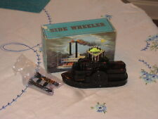 """Collectible Avon """"Sidewheeler"""" Steamboat Bottle-Almost Empty in Orig. Box"""