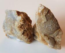 210g Rough African Blue Agate Mineral Crystal Specimen Healing Quartz Gemstone.