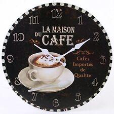 Something Different Rustic La Maison du Cafe Wall Clock, 34 cm