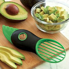 3-in-1 Avocado Slicer Green Fruit Pitter Peeler Splits Slices Blade Papaya Mango