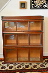 Macey Mission Oak Barrister Bookcase 3 Stack