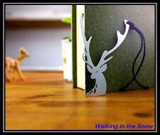 Cute Deer Long Antler - Stainless Steel Metal Art Bookmark