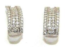 mujer bonito 9ct 9ct Blanco PENDIENTES DE ORO SET CON 96 diamantes