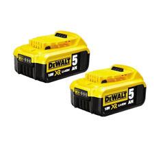 2 Pack New DeWalt 18v XR Genuine 5.0ah  DCB184 Li-Ion Battery with indicator