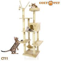 Cozy Pet Deluxe Cat Tree Sisal Scratching Post Quality Cat Trees - CT11-Beige