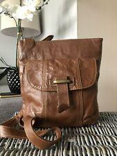 Brown NEXT Leather Shoulder Bag/Crossbody Bag