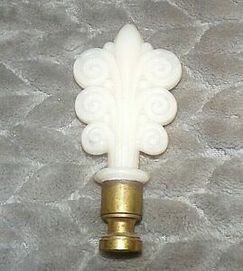Antique Aladdin 1938 Pink Alacite Lamp Scroll Finial Vintage
