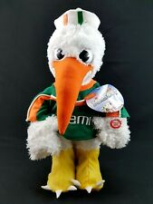 Vintage University of Miami Hurricanes Animated Musical Plush Mascot UM Canes