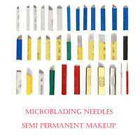 20/50/100 pcs Microblading Needles - Permanent Manual Eyebrow Blade Needle Pin
