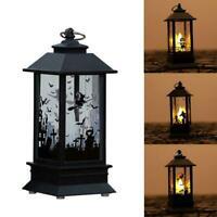 Castle Halloween Vaintage Hanging Party Light Deco LED Lamp Pumpkin Lantern X8R3