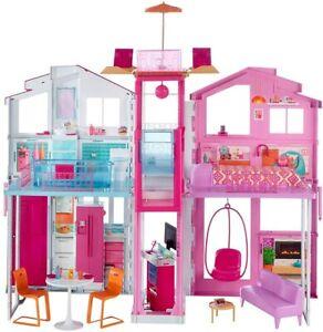 Mattel Barbie Haus DLY32 Spielzeug 3 Etagen Stadthaus Zimmer Aufzug Toys Villa