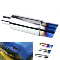 Car Exhaust Tail Muffler Tip Pipe Fit for Modified Pipe Exhaust System Blue