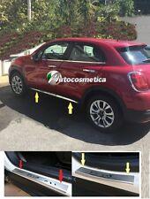 4 Strisce Acciaio Cromo Minigonne+set battitacchi in acciaio satinato FIAT 500X