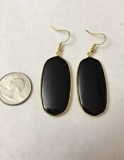 Black Onyx Stone Kendra + Chloe Design by Isabel J. Scott With Gold Outlay