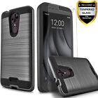 T-Mobile REVVL Plus Case, Hybrid Shockproof Case + Glass Protector