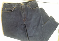 JONES SPORT Jeans Dark Blue Straight Leg 5-pocket Flat-Front ~ Womens Size 16
