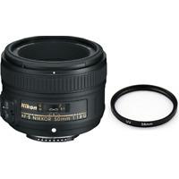 Nikon AF-S NIKKOR 50mm f/1.8G Lens w/58mm UV Filter