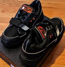 $790 Mens Prada Vitello Sport Grip Strap Sneakers Black UK 12 US 13
