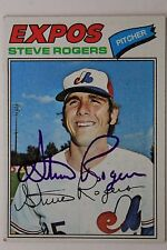 STEVE ROGERS Montreal Expos Autographed 1977 TOPPS #316 Signed Card 16F