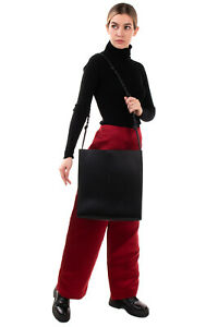 RRP €890 JIL SANDER Leather Shoulder Hobo Bag Large Knotted Strap Made in Italy