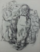 Mariette lydis : Joven Hombre En - Grabado-Firmada-1947
