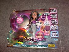 "BRATZ DOLL NEW MIB SET  "" BE BRATZ .COM """