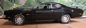 BLACK 1971 DODGE DEMON PROJECT CAR ERTL 1:18 SCALE DIECAST METAL MODEL CAR