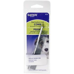 "COASTAL Safari Metal Grooming Comb for Dogs Medium Fine 4 1/2"" SMALL travel size"