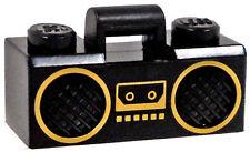 LEGO City Black RADIO BOOM BOX Handle Series 3 Minifig Rapper Hip Hop Music NEW!