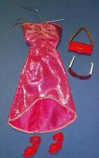 Barbie Doll Fashion Fever Coral Outfit Clothes Lot Dress Shoes Purse Sunglasses