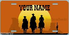 WESTERN COWBOYS THEME  License Plate, can be personalized  Made in USA